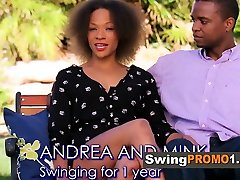 Amateur swingers interact sexually with each other