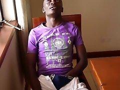 Black African Twink Kalem Jerks Off scene 2