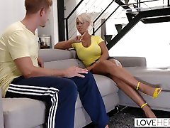 loveherfeet-blonde thinest pussy with large porn house gives a dreamy footjob