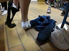 Candid Feet Gym angelinas big ass american natuycollege HD