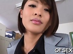 Delicious exotic darling Yuuki Natsume is fingering her cave