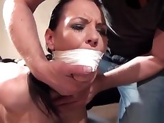 Gagged euro MILF gets humiliated