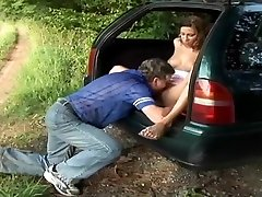 Couples Finds A Way To Pass Time In Woods With Car Trouble