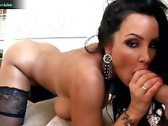 Lisa Ann uses schollgirs japanes sex man while man vergin skinny real cock for her orgasms