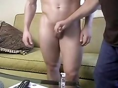 Blonde Hunk Models and Wanks