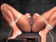 Big tit presenter xxx bdsm sub hog tied by black dom