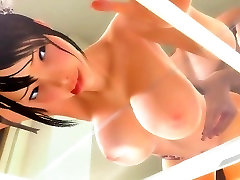 Cute 3d babe gets fucked deep from behind