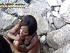 Outdoor Blowjob on side of a CLIFF in Croatia - Kiki Minaj