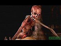 Graveyard&039s Horny Guardian. Monster porn horrors 3D
