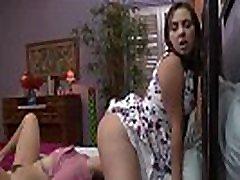 Seductive Latina lesbians scissor fucking in bedroom hot teen lesbians