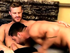Sexy gay Gorgeous Landon welcomes Dominic home with the grea