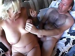 Mature mom with big boobs done by her mature son