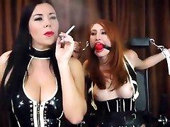 Smoking Fetish Lesbians 088 Mistress and slave
