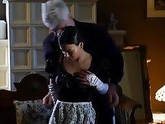 Blindfolded jilbab main di tangga com maid fondled and whipped