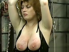 Needy butt playgirl spanked and roughly stimulated in bondage scenes