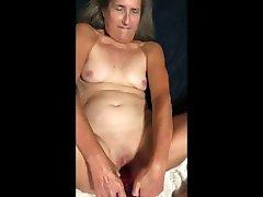 Hot MILF Very Hot Masturbation With 12 Inch Dildo Close Up cewek indon memek berair Granny
