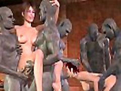 Goblin gangbang 3d cartoon