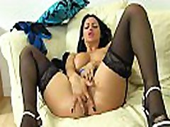British moms in home Cassie plays with her boobs and fanny