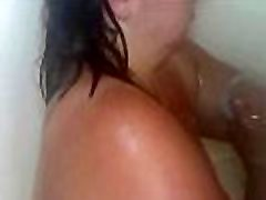 Sexy blading night hindi Pisses in the Shower, Washes Up and Gets Her Face Covered in Cum