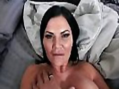 Stepson hears his stepmom Jasmine masturbating in her room and sneaks inside to help her