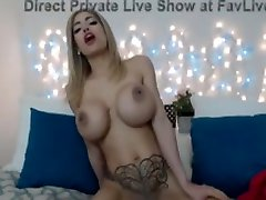 Fucking hot blond shows huge boob