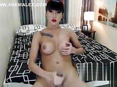 Sexy Ladyboy big tits cumshot