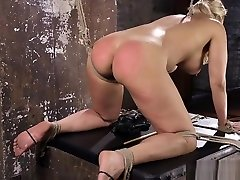 Busty blonde labwa oral sub spanked and toyed