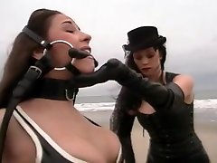 Dominatrix Parades Sub Down Beach
