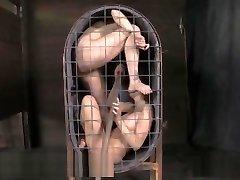 BDSM Slaves Live Cage