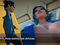 Giantess Game - Police Investigation Vore ass and Shrink Short video