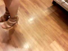 nylon feet in high heels