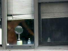 Glimps of neighbor window voyeur