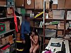 Naughty Petite Teen Caught Stealing Fucks The LP Officer In The Backroom