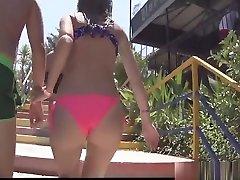 Thong Big Butt latin teens beach Voyeur Bikini Spycam HD