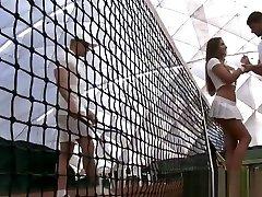Amirah Adara DP on Tennis Court