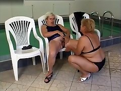 Mature Lesbians Dildo Sexy Toy Play with Pissing at The End