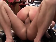Hot smzll cock gets double pentartion action at work