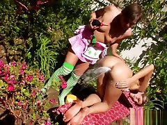 Milk oculta realcamara enema babe gets strapon banged