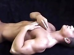 Muscle shy but naked photo shoot