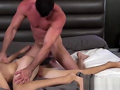 Cute twink ass liked and fucked hard by muscular step dad and dut hunk
