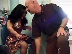 Hot petite big lady milf enjoys a bathroom fuck