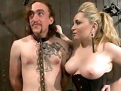 BDSM porn office husband fuck featuring Ashley Edmonds and Aiden Starr