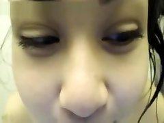 Hot Asian Webcam Girl Dildos In Shower