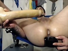 working my Hot Hole so well w XL Toys & making it Super Creamy on Sex Sling