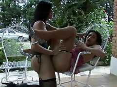 Pussy pounded outdoors