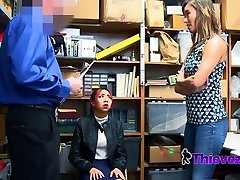 Asian rocco unleashed takes one for the team after her teen is caught shoplifting