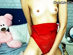 Tiny Tits Pretty Latino Toyplaying P1