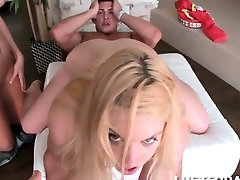 Hardcore threesome with big ass sluts humping slut massage dorm cock