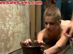sexy teen fucked in the sado maso slave room