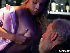 Old-n-Young.com - Rebecca Black - Good barman on counter